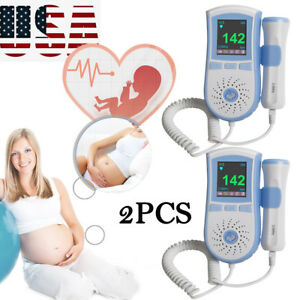 Fetal Doppler Prenatal Baby Heart Movement Monitor 3mhz Probe Sound Big Sale Ce