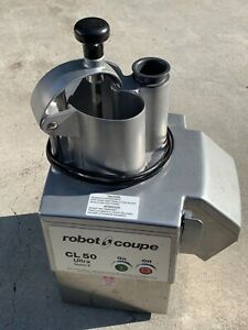 Robot Coupe Cl50 Ultra With Slice shred dice Kit Used Less Than 10 Times