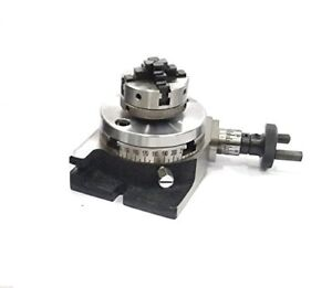 3 80 Mm Small Rotary Table 50 Mm 4 Jaw Chuck Back Plate 50 Mm 4jaw Centering