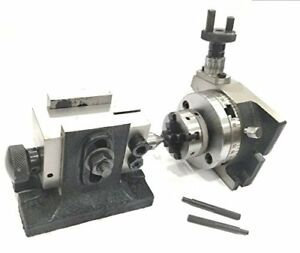 3 Inches 80 Mm Rotary Table Small Chucks back Plate tailstock 50 Mm 4jaw
