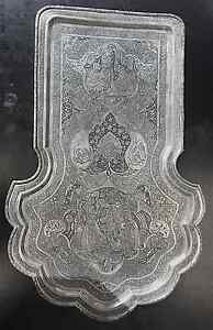 Sterling Silver 800 Hand Carved Serving Tray 1057 5