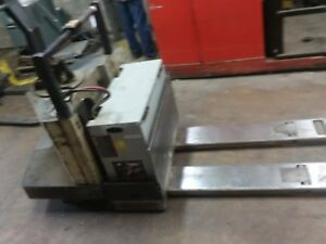 Crown Electric Pallet Jack Ride On comes With Charger ready To Work