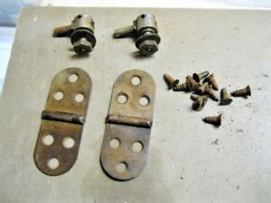 Antique White Treadle Sewing Machine Cabinet Head Lid Hinges