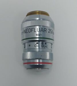 Zeiss Microscope Plan neofluar 25x 0 8 Immersion Objective Lens