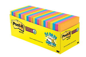 Post it Sticky Notes Cabinet Pack 3 X 3 Inches Rio De Janeiro Colors 24 Pads