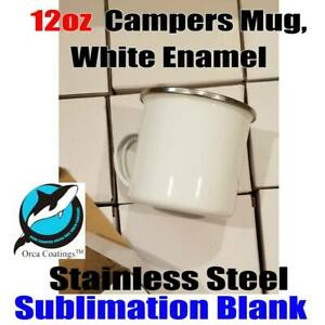 Sublimation 12oz Camp Mugs Stainless Steel Enamal Aaa Orca Coating