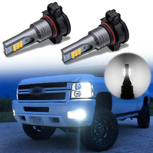 For 2008 2018 Chevy Silverado 2500hd 3500hd Fog Driving Light Led White Bulbs