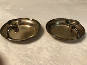 Reed Barton Sterling Silver 2 Matching Ash Trays Marked 176 On Bottom Vintage