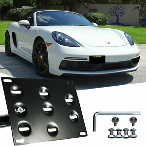 Tow License Plate Mount Bracket For Porsche Boxster Cayman 981 982 718 2012 2019