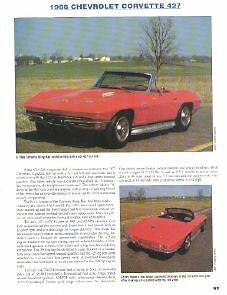 1966 Chevy Corvette 427 Roadster Article Must See
