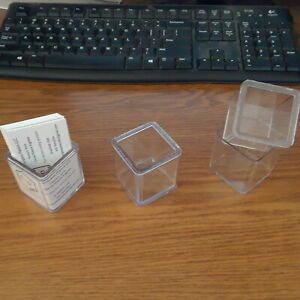 Business Card Holder Cube case Of 40