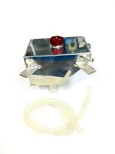 Aluminum Radiator Coolant Tank W Red Cap For 05 10 Ford Mustang Gt 4 6l By Obx