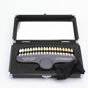Dental 3d Teeth Whitening Shade Guide Tooth Bleaching Shadeguide Set 20 Colors