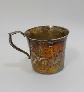 Baby Cup Wallace Silver Plate Old Antique