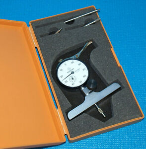 Mitutoyo 7218s Dial Depth Gage 0 8 With 4 Base dial Depth Micrometer
