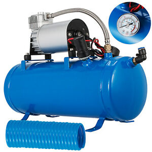 Air Compressor With 6 Liter Tank 150psi Dc 12v For Train Horns Truck Rv Pickup