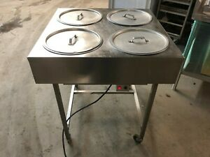 Belshaw 4 Bowl Hole Heated Icing Donut Glazing Table Cart Station Electric