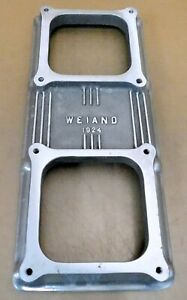 Weiand 1924 Tunnel Ram Top For Dual Holley 4500 Dominator Carbs