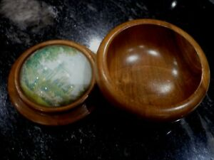 Treen Bowl With Glass Top Windsor Castle 3