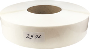 Clear Circle Package Seal Stickers 1 5 Inches Round 2500 Labels On A Roll