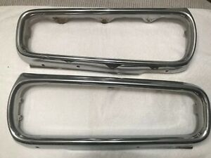 1970 Dodge Coronet Super Bee R t 500 Left And Right Front Bumper Sections
