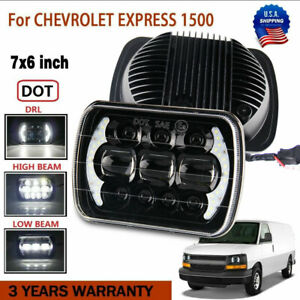 7 x6 Led Headlight Headlamp For Chevy Express Cargo Van 1500 2500 3500 Truck