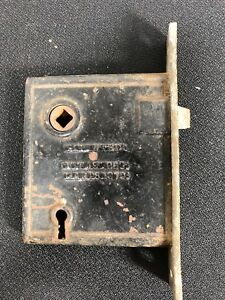 Antique M W Co Mortise Lock Patent March 25 1873