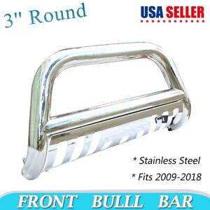 For 09 17 Dodge Ram 1500 Stainless Steel Bull Bar Brush Guard With Skid Plate