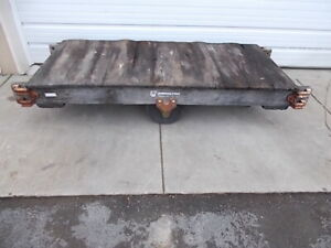 Vintage Antique Industrial Factory Hamilton Lumber Railroad Cart To Coffee Table