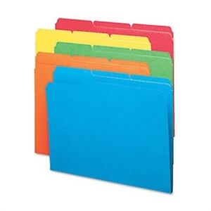 File Folders 1 3 Cut Top Tab Letter Bright Assorted Colors 100 box 3 Pack