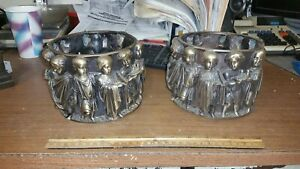Vintage Bronze Lamp Base School Girls And Boys Rynhart Arts Craft