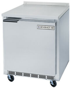 Beverage air Wtr27ahc 6 13 Cuft 27 Wide One Section Work top Refrigerator