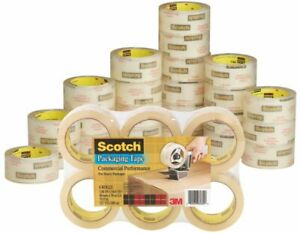 Scotch Commercial Grade Packing Tape 1 7 8 X 54 6 Yd Clear Pack Of 48