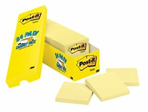 Post It Notes 3 X 3 Canary Yellow Pack Of 24 Pads