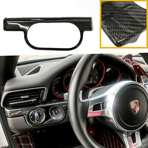 Real Carbon Fiber Side Mirror Covers For 2015 19 Ford Mustang W Led Turn Signal