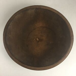 Vintage Wood Bowl Dough Butter Primitive Farm House Out Of Round Turned Bread