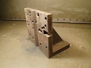 8 X 7 X 5 Machinist Mill Milling Set up Cast Iron Right Angle Fixture Plate