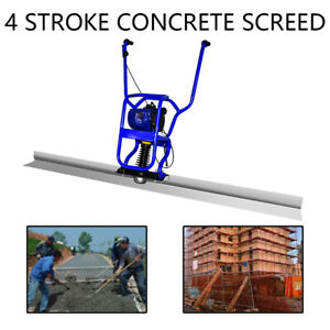 New 37 7cc 4 Stroke Gas Concrete Wet Screed Power Screed Cement 7ft Board