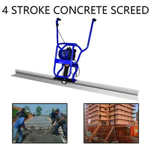 Hot 37 7cc 4 Stroke Gas Concrete Wet Screed Power Screed Cement 6 56ft Board