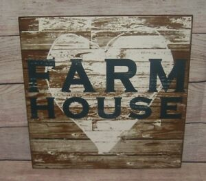 Heart Farm House Wood Wall Sign Primitive French Country Urban Farmhouse Decor