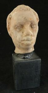 Ancient Roman Pottery Head W Red Slip African Male C 2nd 4th C 5 T