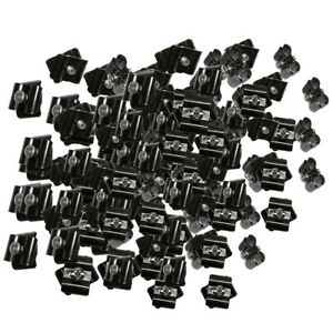100 Gloss Black Wire Grid Connector Clamp Joiner Gridwall Panel Wire Mesh Cube