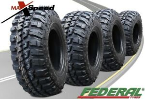 Qty Of 4 Federal Couragia M T 33x12 50r15 108q 6ply Mt All Terrain Mud Tires