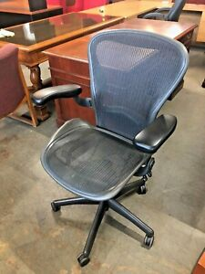 Executive Chair By Herman Miller Aeron Size B fully Loaded W New Arms Pads
