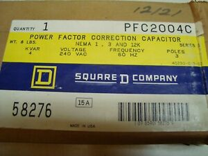 Square D Pfc2004c Power Factor Correction Capacitor