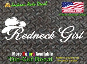 Redneck Girl Country Southern Cowgirl Rebel Off Road Car Window Decal Sticker