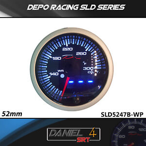 Depo Racing 52mm Oil Temp With 25led Combined Digital Display With Warning