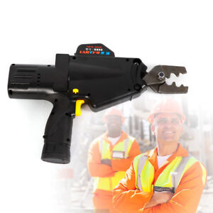 Battery Powered Crimping Tool For Wire Cable Lug Terminal Crimper 8awg 1awg Ups