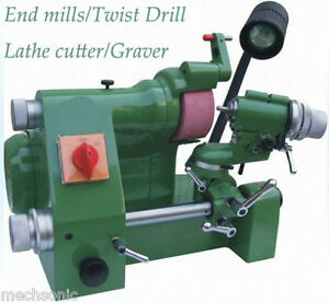 Universal Cutter Grinder Sharpener For End Mill twist Drill lathe Cutter Us1