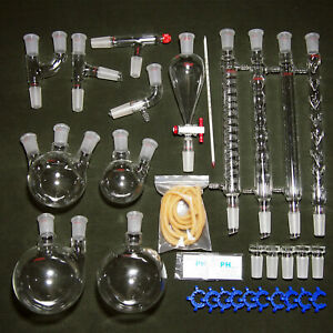 32pcs 24 40 Advanced Chemistry Lab Glassware Kit With Glass Ground Joint